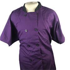 "Chef Uniforms Womans Purple Short Sleeve Chef Coat Jacket Nwot 3xl ""Ii�"