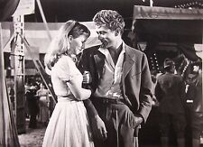 EAST OF EDEN clipping James Dean in suit & Julie Harris sexy B&W photo 1955