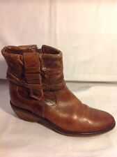 Maruti Brown Ankle Leather Boots Size 38