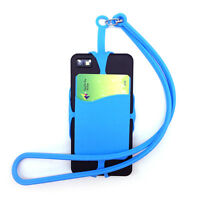 Universal Silicone Lanyard Case Cover Holder Sling Neck Strap For.Mobile Phone !