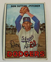1967 Don Sutton # 445 Los Angeles Dodgers Topps Baseball Card