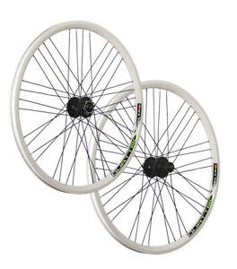 Vuelta 26 pollici set ruote bici Airtec1 Shimano Deore Disc HB / FH-M525 bianco