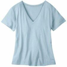 Camisas, camisetas y tops de mujer azules de 100% algodón talla XS
