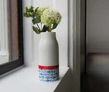 REMEMBER® Dekorative Vase Design Fish Porzellan weiß mediterran Edle Blumenvase