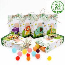 24x Safari Animals Favor Box Jungle Themed Party Gift Bags Woodland Birthday