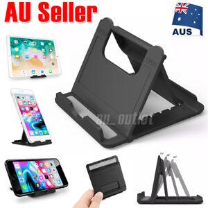 Desk Stand Folding Desktop Holder For Mobile Phone Tablet iPad iPhone Samsung