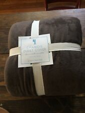 Pottery Barn Kids Chamois Twin Duvet Cover Brown NWT $99+!