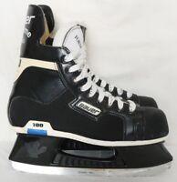 Bauer Supreme Classic 100 SuperFit Canada Black Ice Hockey Skates Boy's 6D