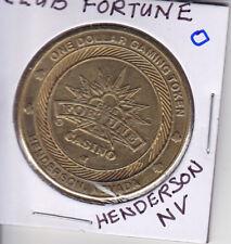 CASINO $1 TOKEN CHIP - CLUB FORTUNE - HENDERSON, NV SLOT MACHINE COIN