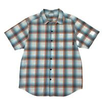 Columbia Button Up Shirt Men's Size Medium Short Sleeve Plaid Collared Casual