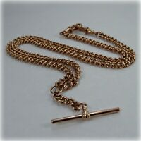"9ct Rose Gold 19"" Double Albert Chain"