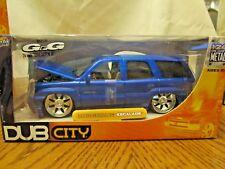 DUB CITY 2002 CADILLAC ESCALADE  1:24 bright Blue JADA TOYS   MFG 2003