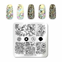 Nail Art Stamping Plate Image Decoration Valentines Rose Flowers Floral (ND100)