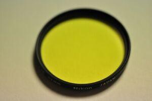 Nikon 52mm Y48 filter with plastic case.