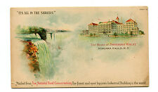 Vintage Advertising Postcard SHREDDED WHEAT Niagara Falls NY Natural Food Consrv