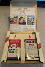 Vtg Esso Lighter Fluid Rust Ban Happy Motoring  Kit