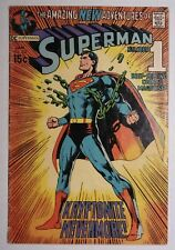 SUPERMAN #233 (1971) VG Neal Adams Cover! Historic Issue! KRYPTONITE NEVERMORE!