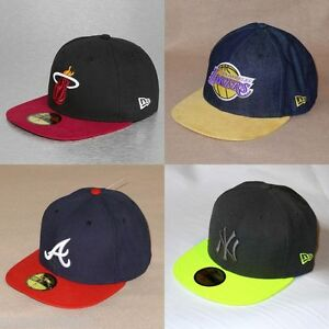 New Era 59FIFTY Fitted Baseball Cap Flat Visor Hat, 5_colors, 5_sizes - $35 NWT!