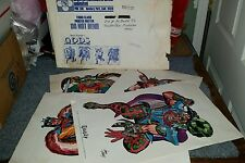 JACK KIRBY GODS 1972  ENVELOPE + 4 COLOR PRINTS HONIR, HEIMDALL,SIGURD, BALDUUP