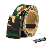Camouflage Canvas Belt Men Women Waist Belt Plastic Buckle Casual Cowboy Belt FT