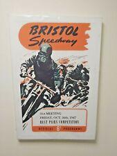 More details for bristol speedway 1947 programme printed on large canvas