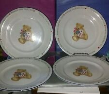 """Set of 4 Land That I Love by Retroneu 9"""" Salad Plate 4th of July Patriotic"""