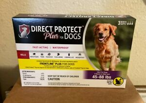 Flea and Tick Treatment for Dogs Size 45-88 lbs - Direct Protect Plus