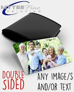 Personalised METAL Keepsake DOUBLE SIDED Photo Card for Wallet/Purse Gift Card