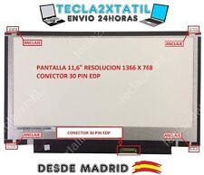 PANTALLA 11,6 PARA PORTATIL Toshiba PSKV2U-00400P LED LCD HD 1366X768 30PIN EDP