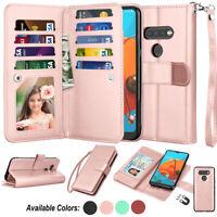 For LG K51/ LG Q51/ LG Reflect Card Leather Wallet Flip Holder Stand Case Cover