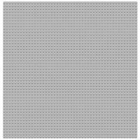 "Gray Generic large 15""  x 15"" Baseplate or 50 x 50 peg base plates"