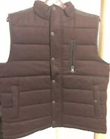 Marc Anthony Men's Black Quilted Heavy Puffer Wool Blend Winter Vest Brand New!