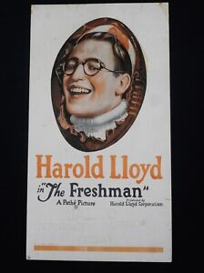 THE FRESHMAN 1925 * HAROLD LLOYD * SPECIAL DIE-CUT MOVIE POSTER * CLASSIC COMEDY