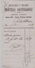 """# ALBANO LAZIALE: RICEVUTA MACELLERIA POLLERIA """"FRATELLI CASTELLACCI"""""""