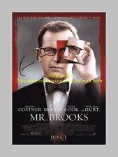 """MR BROOKS PP CAST SIGNED 12""""X8"""" POSTER KEVIN COSTNER"""