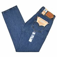 Levis 501 Jeans Authentic Button Fly Mens Classic Fit Many Colors Sizes Tags 32 30 Medium Stonewash Blue