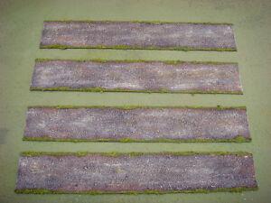 WARGAMES 15mm DIRT ROADS No 1 Flames of War WW2 handmade by FAT FRANK