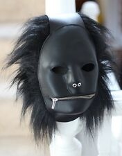 Quirky Leather Fetish Mask Gimp Hood with personality