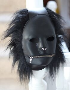 Real Leather Fetish Mask Gimp Hood Extreme Adult fun - Dungeon must have!