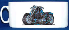 KOOLART - HARLEY SPORTSTER -  GLOSSY PHOTO MUG - BLUE