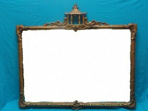 ENGLISH CHINESE CHIPPENDALE GILT CARVED WOOD MIRROR