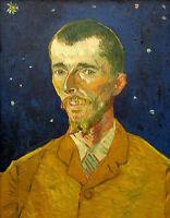 Art Oil painting Vincent Van Gogh - Male portrait in moon night canvas