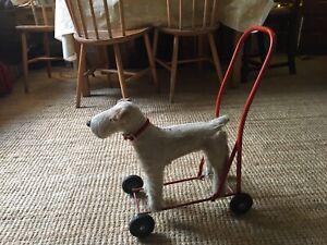Lines Bros Stuffed Toy Dog On Wheels