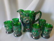 EMERALD GREEN Carnival DAHLIA WATER SET-Made for Rosso from Dugan Mold?