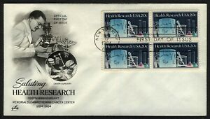 #2087 20c Health Research-Block 4, Art Craft FDC ANY 5=