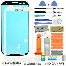 Samsung Galaxy Note 2 Glass Lens Screen Replacement Repair Kit WHITE +UV Glue