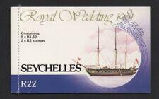 SEYCHELLES 1981 ROYAL WEDDING R22 STAMP BOOKLET *FINE & COMPLETE*