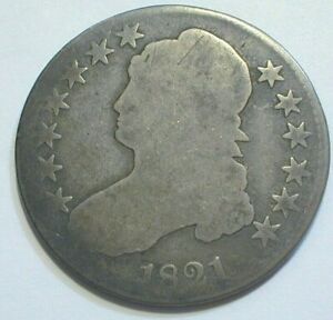 1821 USA Capped Bust Silver Half Dollar Circulated Condition (552)