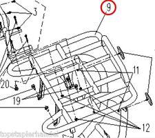 ATV / Quad Portapacchi posteriore per CFMoto Uno XL & Everest 500