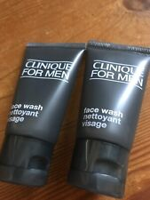 Clinique For Men face wash normal to dry Skin 30ML New X2 travel sizes